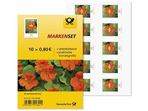 Markenset Kapuzinerkresse, Briefmarke zu 0,80, 10er-Set, selbstklebend