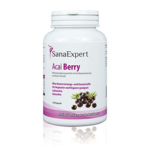 SanaExpert Acai Berry, integratore naturale antiossidante, 120 capsule