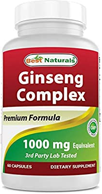 Best Naturals Ginseng Complex 1000 mg 60 Capsules by v