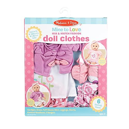 "Melissa & Doug Mine to Love Mix & Match Fashion Doll Clothes for 12""-18"" Dolls (6 pcs)"