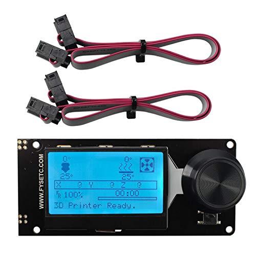 BCZAMD V2.1 Mini 12864 Display LCD grafico Smart Display Controller Board Supporto Marlin DIY scheda SD per Ender-3 Prusa-i3 SKR-V1.3 Reprap stampante 3D RGB retroilluminazione nero