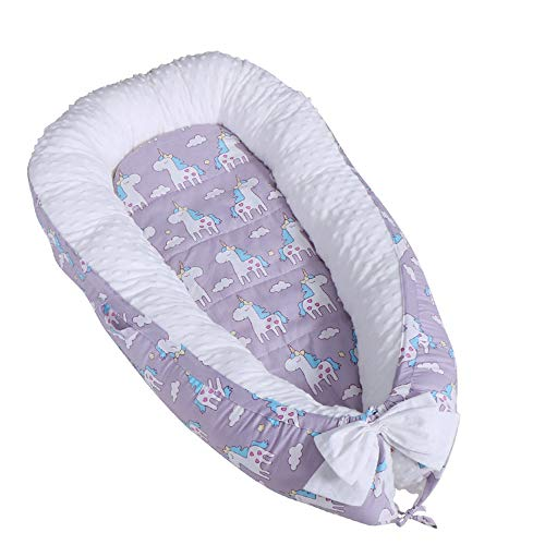 Why Choose Newborn Baby Lounger,Multifunctional Baby Nest, Portable Soft Breathable Baby 100% Cotton...