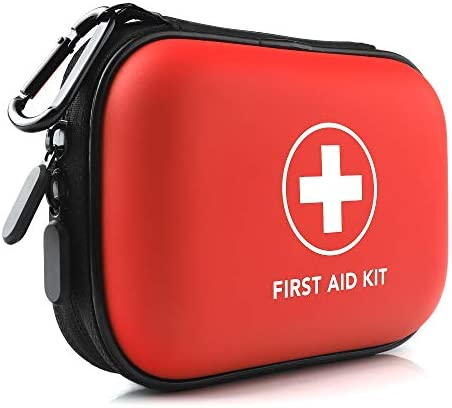 Mini First Aid Kit 100 Pieces Small Water Resistant Hard Shell Case Perfect for Travel Outdoor product image