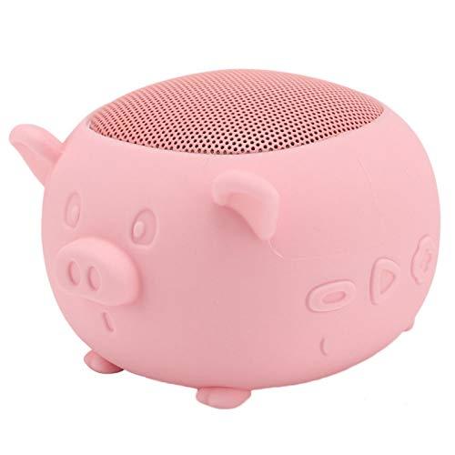 minifinker Altavoz de micrófono Incorporado Altavoz inalámbrico Estilo Lindo para iPad(Pink)