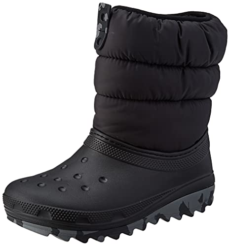 Crocs Classic Neo Puff Boot K, Botas para Nieve, Black, 34/35 EU