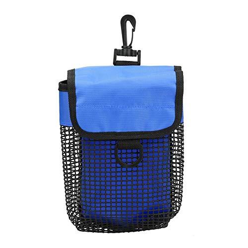Bnineteenteam Bolsa de Buceo, Malla de PVC Reforzada y Tela de Nailon Paquete de Bolsa de Equipo de Malla de Buceo Ligero portátil con Hebilla(Azul)