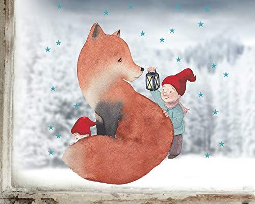 TinyFoxes KG Fensterbild Fuchs im Winter