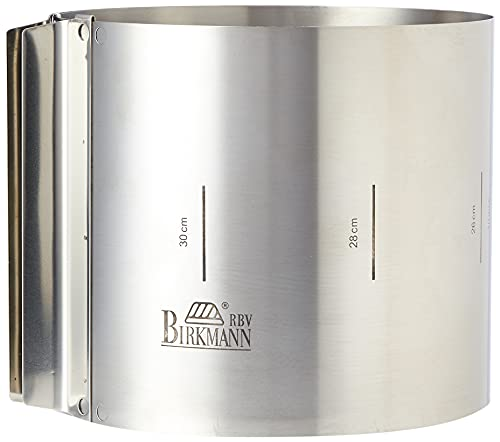 Birkmann RBV, 429413, Easy Baking, Tortenring extra hoch, Höhe 15 cm, Federbandstahl