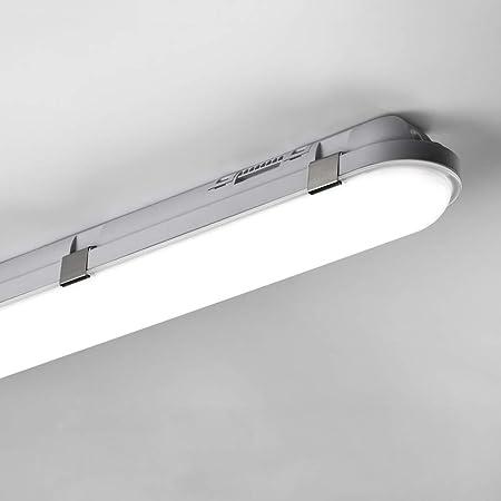 Tube LED 120CM 40W, 4000LM Tube Fluorescent Luminaire Plafonnier LED Lampe, Etance IP65 4000-4500K Blanc Neutre Barre Atelier, Garage, Bureau, Cave
