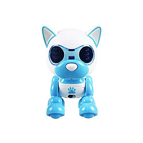 12shage Roboterhund, elektronisches Haustier, Roboter Hund, macht Saltos, tanzt, zeigt Gefühle, viele weitere Spielmöglichkeiten (Himmelblau)