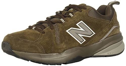 New Balance Men's 608 V5 Casual Comfort Cross Trainer, Chocolate Brown/White, 12 XW US
