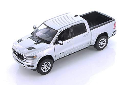 Unbekannt Dodge RAM 1500 Crew Cab Laramie, Silber, 2019, Modellauto, Fertigmodell, Motormax 1:24