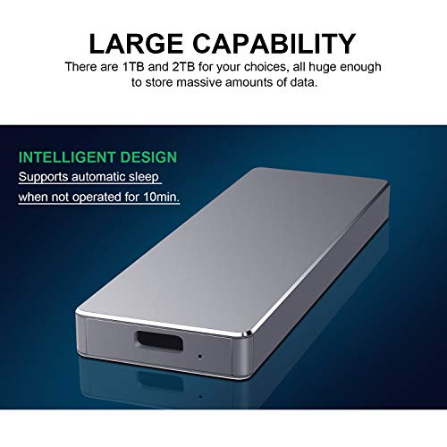 Disco Duro Externo 1tb Type C USB 3.1 Disco Duro Externo para Mac, PC,MacBook, Chromebook, Xbox (1tb, Azul) miniatura