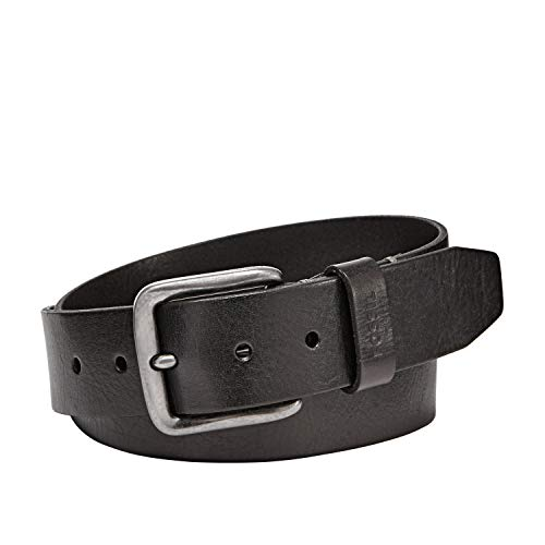Fossil Men's Brody Leather Belt, Black, Size 38