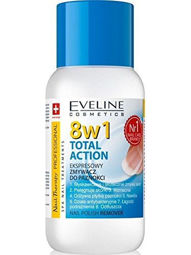 Eveline Cosmetics Nail Theraphy 8in1 Total Action NAGELLACKENTFERNER Acetonfrei, 1er Pack (1 x 150 ml)
