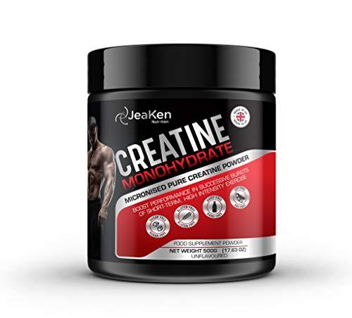 CREATINA MONOHIDRATADA EN POLVO - Proteinas Para Aumentar Masa Muscular - Creatina Monohidrato Micronizada 100% Pura Vegan Protein Powder- 500g de Suplementos Para Ganar Masa Muscular y Para Engordar