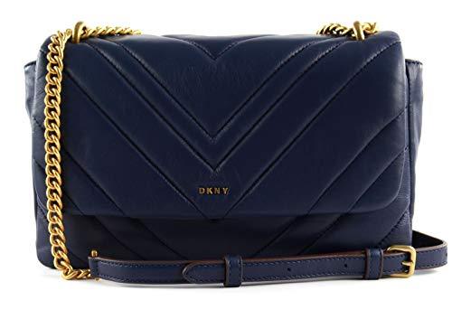 DKNY Vivian Double Shoulder Bag with Flap S/M Indigo