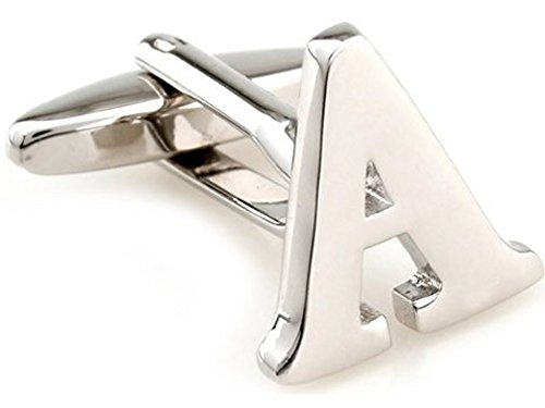 TEROON Cufflinks Lettre initiale 'A' [Bouton - NON paire]