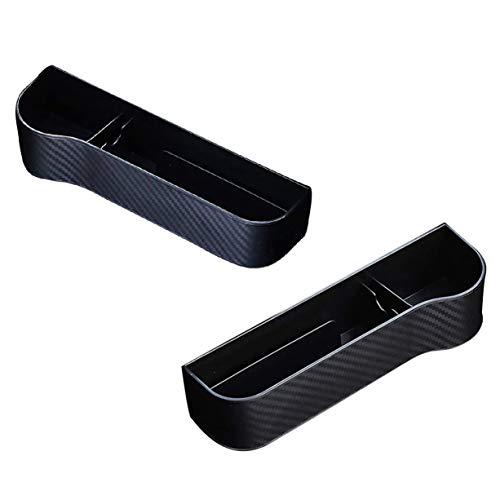 PQZATX Aufbewahrungs Schlitz Box für Auto Sitze, Aufbewahrungs Box für Multifunktionale Schlitze, Aufbewahrungs Box für Carbon Faser Halter Finisher (Schwarz)