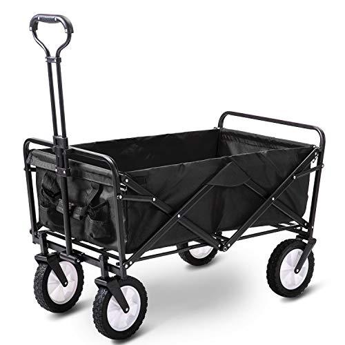 MTBH PMTBHKlappwagen, Faltbarer Mobiler Outdoor-Camping-Grill-Einkaufswagen Für Gartenhand-Push-Pull-LKW