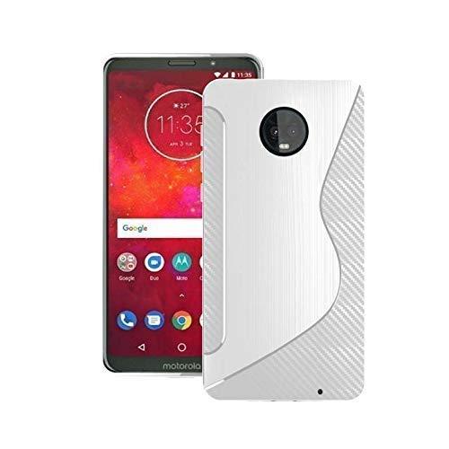 Silikon Gel TPU in Hülle Cover für Motorola Moto Z3 Play - Durchsichtig