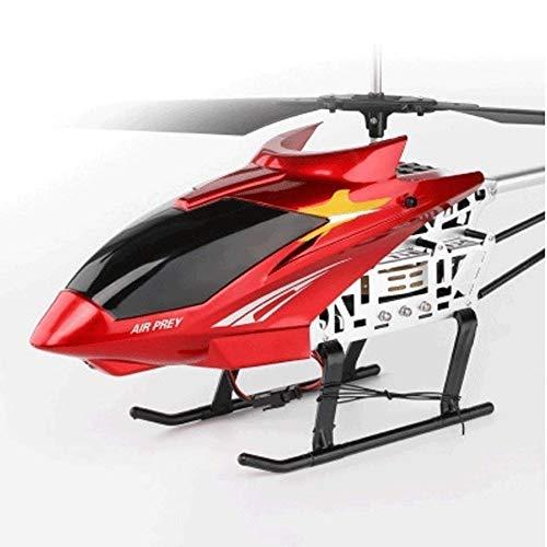 Kikioo Los 85CM gigante grande al aire libre helicoptero RC de carga electrico teledirigido de radio de 3.5 canales helicoptero Boy Toy girocompas del metal de luz LED de aviones zangano adultos princ