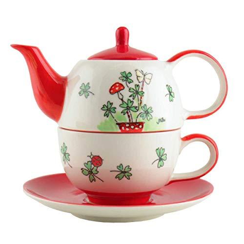 440s Mila Keramik Tee-Set Tea for One Viel Glück | MI-99196 | 4045303991965