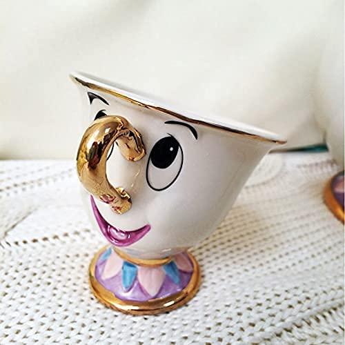 Taza de café Estilo Antiguo La Bella y la Bestia El Hijo de la Sra. Potts: Chip Tea Coffee Linda Taza de cerámica Porcelana Lovely Drink-Ware Hermoso