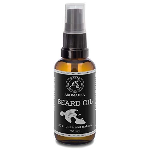 Bartöl Männer 50ml - 100{7fdcd489086adcfb21903729aa2e7a2ce622d479a8185d82725fb4f39829e0fd} Natürlich - Bart & Schnurrbart Öl mit Mandelöl - Arganöl - Jojobaöl - Orangenöl - Minzöl - große Vorteile für Bart Pflege - Glasflasche - Beard Oil