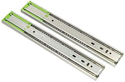 KOTARBAU® 1 Paar (2 Stück) Teleskop-Schienen kugelgelagert 300 mm Vollauszug Schubladenschienen mit SoftClosing Selbsteinzug für Schubladen