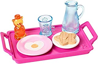 Barbie Doll Mini Story Starter Set - FXG28 - Breakfast in Bed - Heart Waffle and Eggs