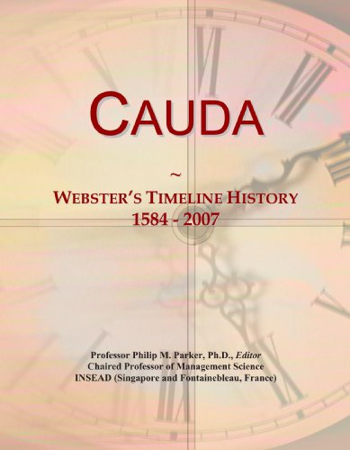 Cauda: Webster's Timeline History, 1584 - 2007
