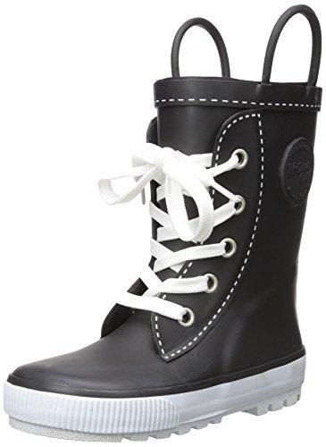 Western Chief Boys Waterproof Printed Rain Boot with Easy Pull On Handles, Sneaker Black, 12 M US Little Kid