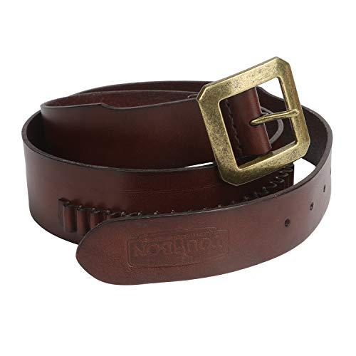 TOURBON Adjustable Leather Pistol Bandolier Cartridge Belt for .22