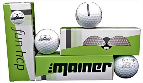 Emainer Golfball, softe Golfbälle mit maximaler Reichweite, Dieser Ball kennt Dein Handicap, 3er-Pack