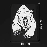 ステッカー剥がし 10.1CMX14.8CM怒っているクマグリズリーベアの爪ビニール車ステッカーブラック/シルバー ステッカー剥がし (Color Name : Silver)