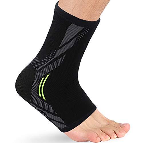 SBA Dynamic Fitness - Calze a compressione, con supporto per caviglia durante la corsa, la camminata e il lavoro, allevia il dolore dovuto alla fascite plantare, per uomini e donne