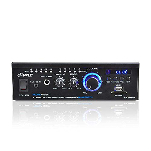 Pyle PCAU48BT Mini Blues Series High Performance 120 Watt 2 Channel...
