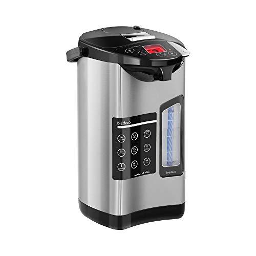 Bredeco Termo Dispensador Eléctrico De Agua BCTP-5-L (Acero Inoxidable, Rango Temperatura 40-100 °C, Capacidad 5 Litros)
