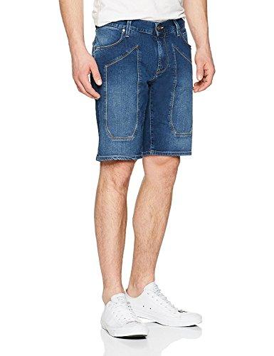 JECKERSON Bermuda Patch Denim Oz 9 Pantaloncini, Blu (Mid Blu), 46 (Taglia Produttore:32) Uomo