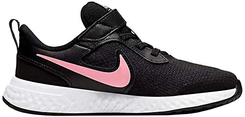 Nike Unisex-Kinder Revolution 5 (PSV) Leichtathletikschuhe, Schwarz (Black/Sunset Pulse 002), 29.5 EU