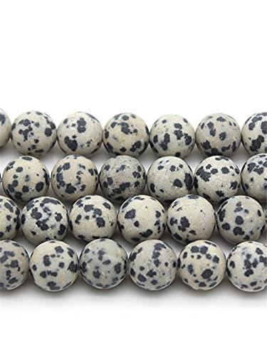 Cuentas sueltas redondas para hacer joyas, collar de pulsera de 15 pulgadas, 4/6/8/10/12 mm, blanco y negro, 4 mm aprox. 93 cuentas