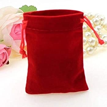 Gift Bag 10Pcs Velvet Storage Bags Wedding Favor Pouch Jewelry Packaging Bag Gift Bag - Wine Red 10pcs