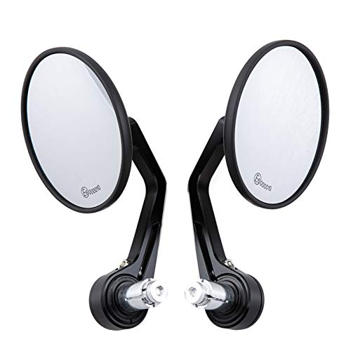 Universal Motorcycle Rear View Mirrors For 7/8' Handlebar End Mirror/Fit For - MT 07 MT 09 S1000 FZ8 R1200GS GSXR 650 Z750 /