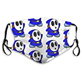 Blue ShyGuy Mask with Replaceable Filter Reusable Washable Face Covering Medium
