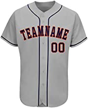 FIITGCUSTOM Customized Baseball Jersey with Stitched/Printed Design Your Own Baseball Jersey Team Name&Numbers for Men