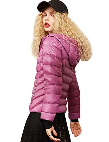 Elf zak dames licht donsjack capuchon overgangsjas korte gewatteerde jas warmte koude-bescherming winter jas