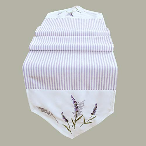 Kamaca Tischläufer Lavendel ZAUBER hochwertige Stickerei Größe 30x160 cm EIN Eyecatcher (Tischläufer Lavendel 30x160 cm)