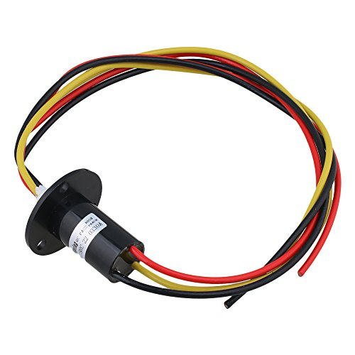 3 Wires Current Conductors Circuits Slip Ring 250Rpm 240V AC/D 30A Power Collector Ring 22mm
