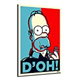 The Simpsons Painting Cartoon Vintage Canvas Wall Art Poster Print Nordic Kids Decoration Picture Children Bedroom Decor (No Framed,16x24inch)